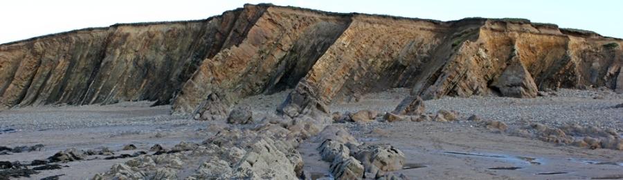 folded killa cliffs, Ruth's coastal walk, near Bude