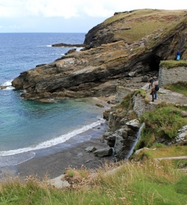 looking to Barras Nose, Tintagel Haven, Ruth Livingstone