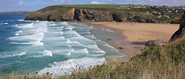 Mawgan Porth, Ruth walking the SWCP in Cornwall