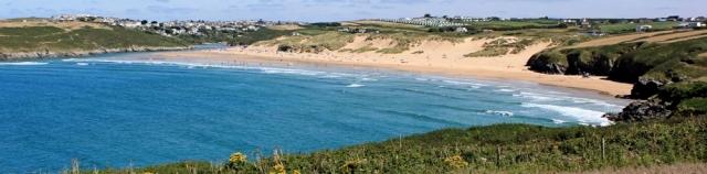 Newquay, Ruth walking around the coast