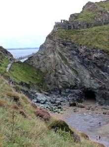 looking down on Tintagel Haven, Ruth's coastal walk in Cornwall