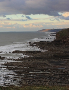looking up the coast, past Bude, Ruth's coast walk