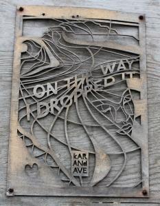 Dropped it sign, Ruth Livingstone, Mawgan Porth