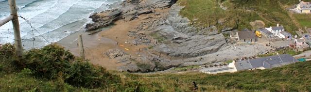 19 precipitous climb down into Trebarwith Strand, Ruth Livingstone