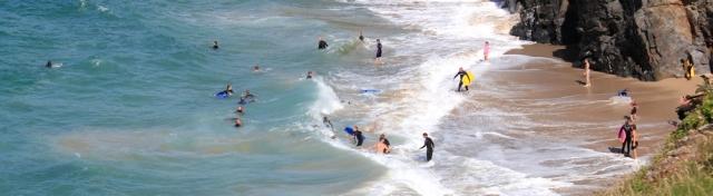 surfers everywhere, Porthcothan, Ruth's coast walking