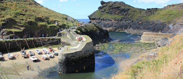 Boscastle Harbour, Ruth's coast walking