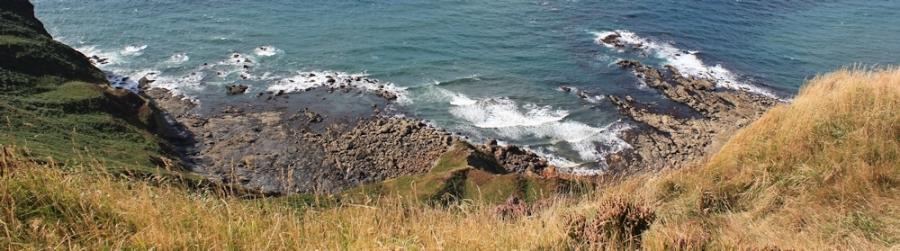 Rocks below, SWCP, Ruth in north Cornwall