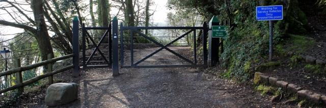 Hobby Drive entrance, Ruth's coastal walk, Clovelly, North Devon
