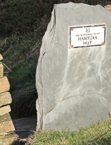 Hawkers Hut, Morwenstow, Ruth on the South West Coast Path