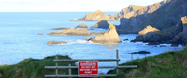 04 danger sign, Hartland quay, Ruth Livingstone's walk