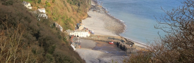 Hobby Drive, looking down at Clovelly, Ruth's coast walking