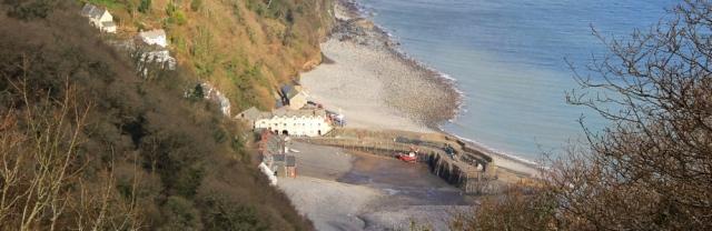 Hobby Drive, looking down at Clovelly, Ruth's coast walking
