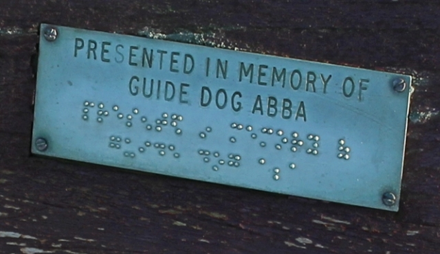 09 Guide Dog memorial, Abba, Bude, Ruth Livingstone