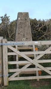 09 trig point, Chapman Rock, North Devon, Ruth Livingstone