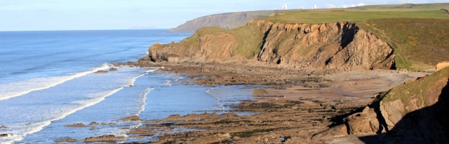 12 down to Northcott Mouth, Ruth's coastal walk on the SWCP, near Bude