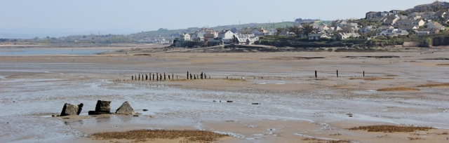 Appledore across Skern, muddy walking, Ruth around the coast, North Devon