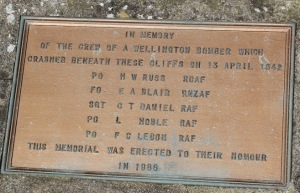 13 memorial to bomber crash, Windbury Point, Ruth's coast walking
