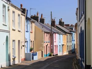 Appledore, coloured houses, Ruth's coast walk, SWCP