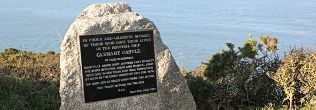 16 memorial to Glenart Castle, Ruth's coastal walk, Hartland Point