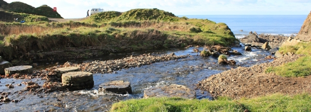 16 Stepping Stones at Welcombe Mouth, Ruth's coastal walk, North Devon on SWCP