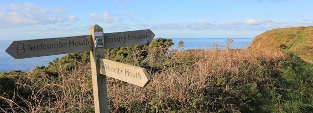 18 Knap Head, Ruth on coastal path, north of Bude