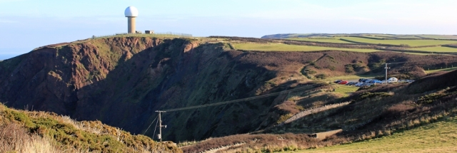 20 car park and Radar Station, West Titchberry Cliff, Ruth's coast walk