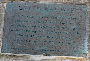 21 Green Ranger plaque, Ruth Livingstone, Gunpath Rock, SWCP