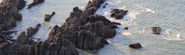 22 Green Ranger wreckage, Ruth Livingstone, Gunpath Rock, SWCP