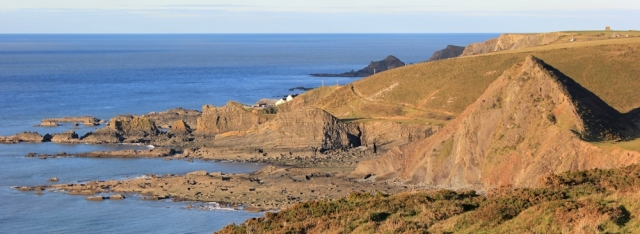 25 St Catherine's Tor and Hartland Quay, Ruth on her coastal walk, SWCP
