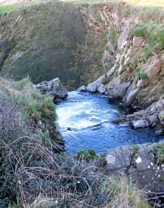 26 Speke's Mill Mouth, Ruth on her coastal walk, SWCP, nr Hartland Quay