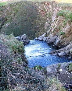 26 Speke's Mill Mouth, Ruth on her coastal walk, SWCP, nr Hartland Quay