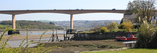 Torridge Bridge, Bideford, Ruth on SWCP, Devon