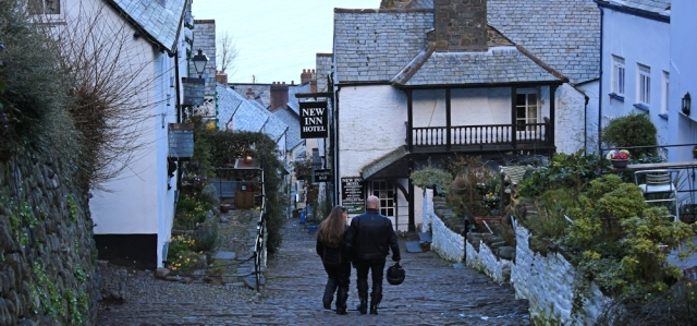 high street, Clovelly, Ruth's coast walk