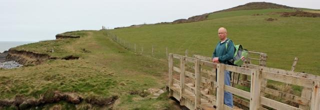 one more hill to go, Cornborough Cliff, Ruth's coastal walk, South West Coast Path
