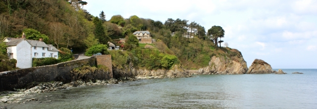 01 Lee Bay, Ruth on her coastal walk, north Devon