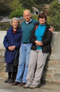 John, his mum, Ruth, Lee Bay, South West Coast Path