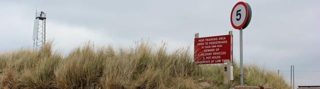 danger signs, MOD, Instow, Devon