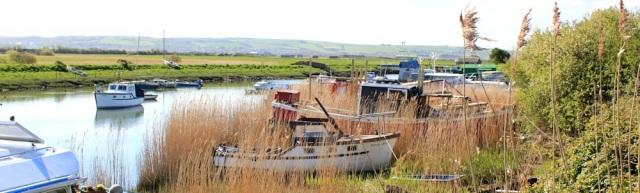 boats, Velator Quay, River Caen, Ruth walking the coast, Devon