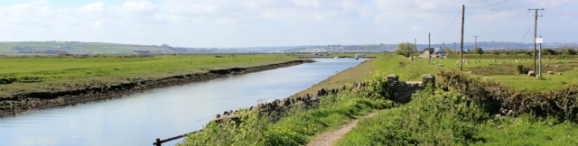 walking down River Caen from Braunton to estuary, Ruth Livingstone