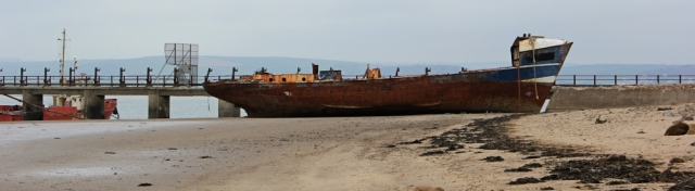 abandoned ship, Instow Barton Marsh, Ruths coast walk