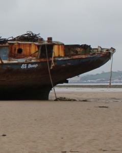 SS Boop, Ruth on her coastal walk, Devon