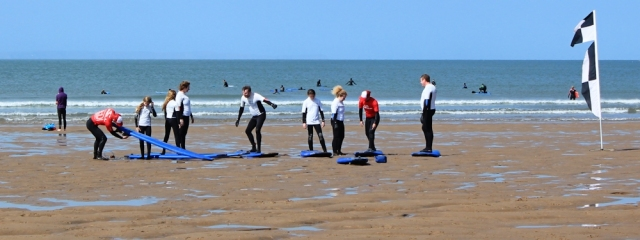 surfing lessons, Croyde Bay, north Devon, Ruth's coast walking