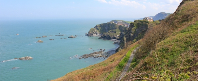 Torrs Park, Seven Hills, Ruth walking the coast to Ilfracombe