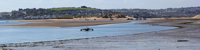 looking over to Northam Burrows and Appledore, Ruth's coast walk