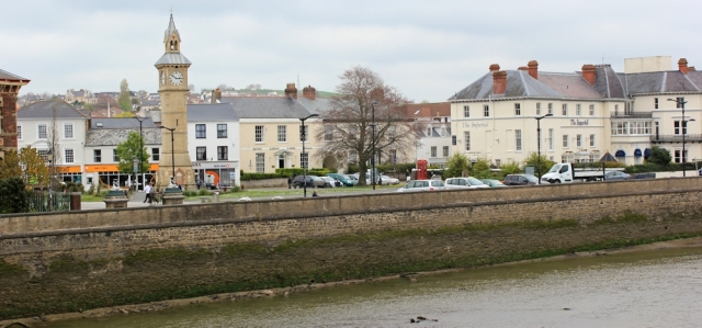 Barnstaple from Long Bridge, Ruth's coastal walk, Devon