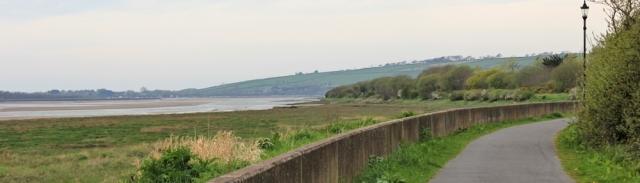 Tarka Trail out of Barnstaple, Ruth on the coast walk SWCP