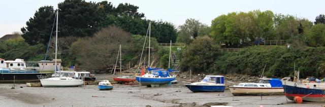 boats, River Taw, Ruth walking round the coastline