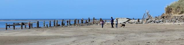 Groynes, Saunton Sands, SWCP, Ruth's coast walk