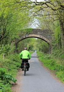 cyclist, Tarka Trail, Ruth's coastal walk