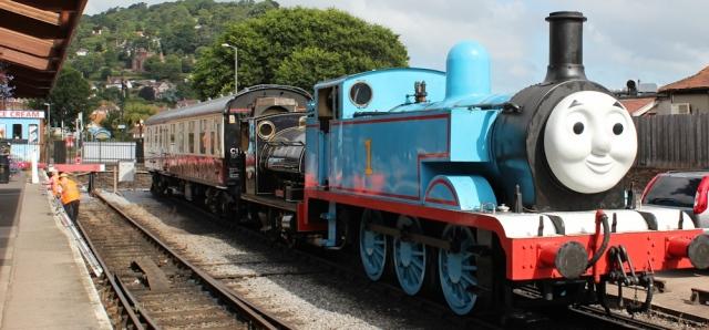 Thomas the Tank Engine, Minehead, Ruth walking the coast